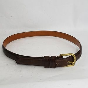 Coach Brown Glove Tanned Cowhide Leather Belt